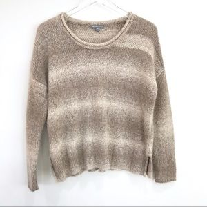 James Perse Sweaters - James Perse Ombré Striped Chunky Alpaca Sweater